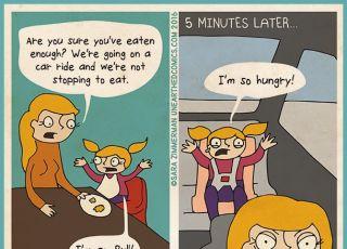Przezabawny komiks o mamach i dzieciach, dla których najważniejsze jest jedzenie