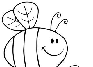 pszczoła, kolorowanka dla dzieci, kolorowanka do druku