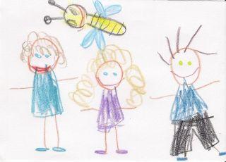 pszczółka rysunek dziecka
