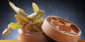 Puełko z gałązkami lipy - przygotowanie domowej maseczki z lipy