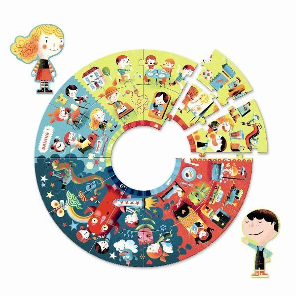 puzzle dla trzylatka, puzzle, puzzle dla dzieci, puzzle pory dnia