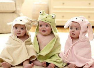 ręcznik, dziecko, dzieci, kąpiel