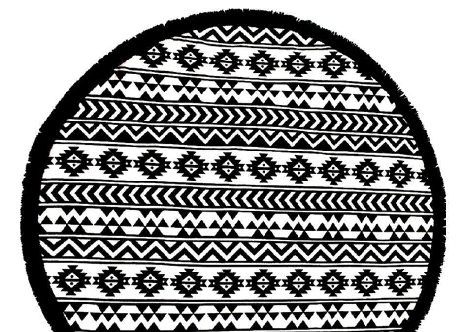 ręcznik plażowy z frędzlami okrągły 209zł hugme.com.pl.jpg