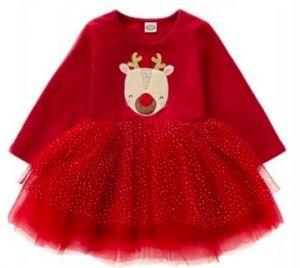 Sukienka z reniferem na święta