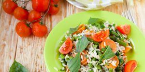 risotto, warzywa, ryż