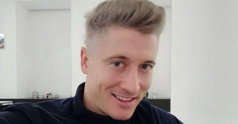 Robert Lewandowski w nowej fryzurze