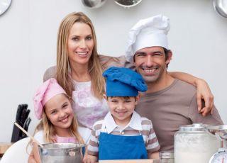 rodzice, rodzina, dzieci, mama, tata, kuchnia