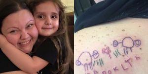 Rodzice tatuują rysunki swoich dzieci