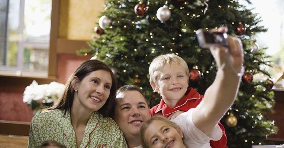 rodzina, choinka, święta