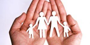rodzina, dłonie, wycinanki