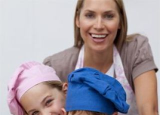 rodzina, kuchnia, ciastka