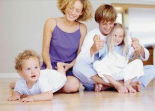 rodzina, mama, tata, dziecko, niemowlę