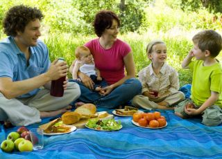 rodzina, piknik, majówka, przyrod