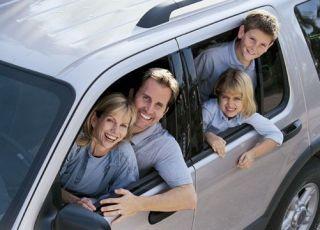 rodzina, samochód, podróż, wyjazd, dzieci, wakacje, rodzice