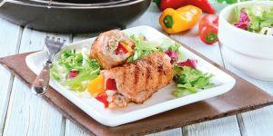 Roladki wieprzowe z papryką (potrawa z grilla)