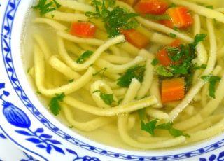 rosół, rosół z kluskami, zupa