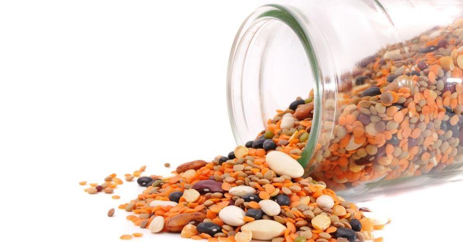 Rośliny strączkowe, nasiona soi, fasoli, soczewicy