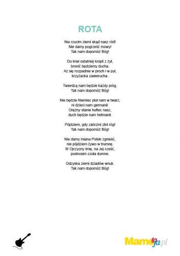 piosenki patriotyczne dla dzieci Rota