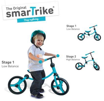 Rowerek biegowy Smart Trike - niebieski/czarny