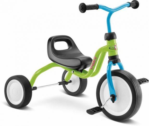 Rowerek trójkołowy PUKY FITSCH zielono-niebieski, cena ok. 220 zł