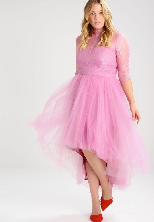 Różowa sukienka tiul duzy rozmiar - HIT