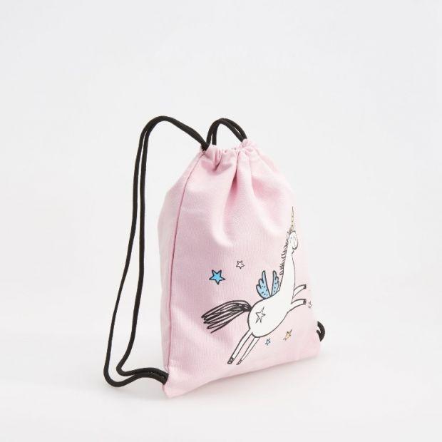 różowy worek dla przedszkolaka Reserved 29.99zł z jednorożcem.jpg