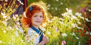 Rude włosy u dziecka