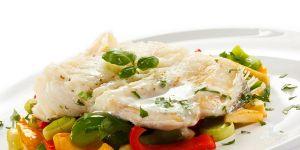 ryba, warzywa, danie, potrawa, jedzenie, kuchnia