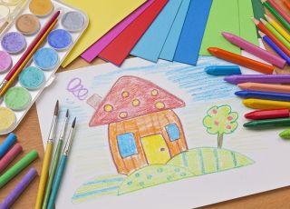 rysowanie, rysunek dziecka, kolorowanka