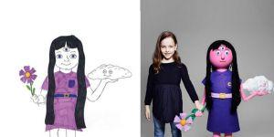 rysunki przerobione na maskotki wyimaginowanych przyjaciół