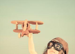 samolot, wakacje, dziecko