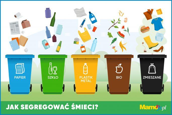 segregacja śmieci infografika