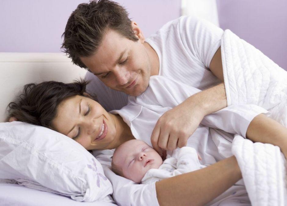 Seks po porodzie, rodzina z niemowlęciem