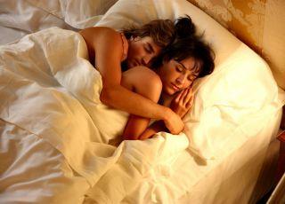 sen, kobieta, mężczyzna, seks, łóżko