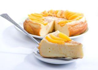 ser, sernik, ciasto, owoce