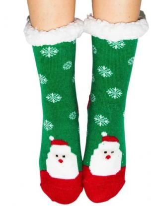 Skarpety świąteczne z futerkiem