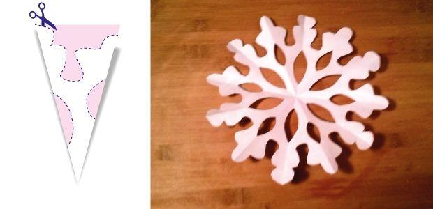 śnieżynki z papieru wzór 4