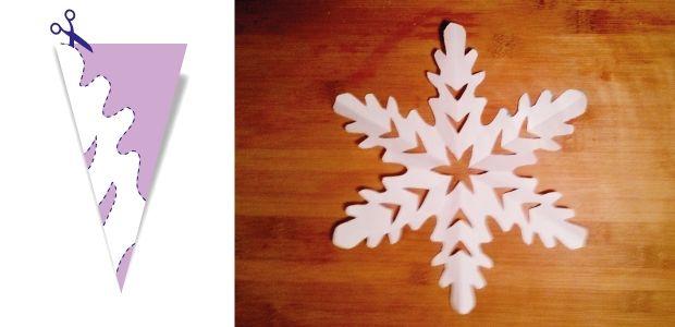 śnieżynki z papieru wzór 5