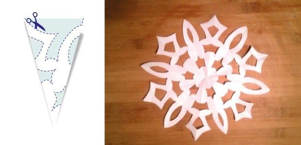 śnieżynki z papieru wzór 7