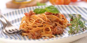 Spaghetti z mięsem wołowym - przepis na obiad