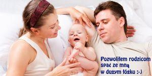 spanie z dzieckiem, dziecko, niemowlę, rodzice