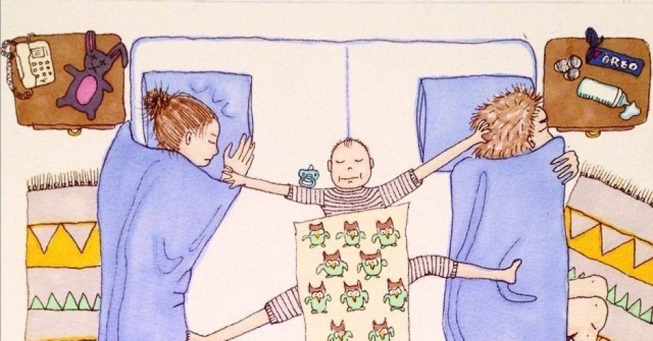 Spanie z dzieckiem w jednym łóżku