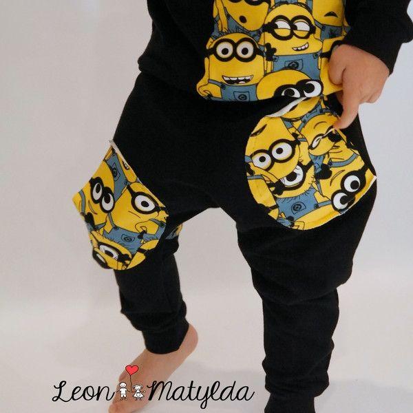 spodnie i bluza z minionkami leon i matylda dawanda.pl ok. 45zł.JPEG