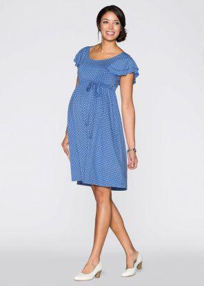 Sukienka ciążowa Bonprix w kropki