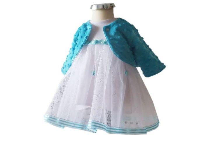 Kolorowa sukienka do chrztu