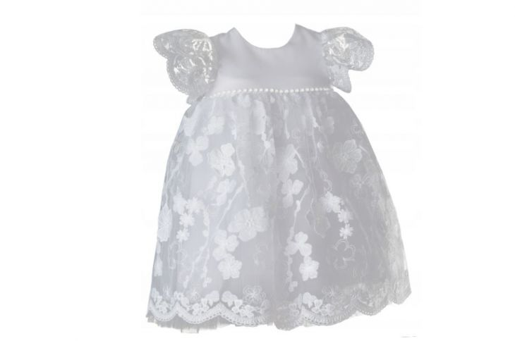 Koronkowa sukienka do chrztu