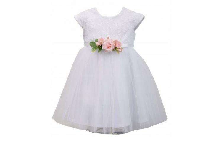 Sukienka na chrzciny z kwiatami