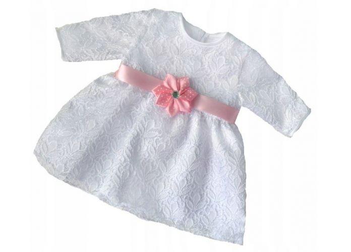 Sukienka do chrztu z szrfą