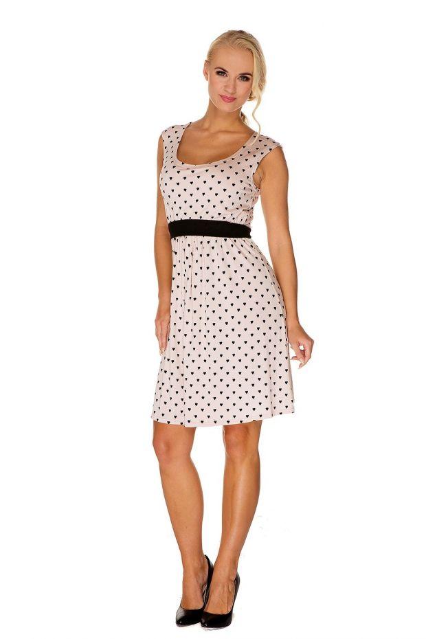 sukienka do karmienia krótka w drobny wzorek.jpg