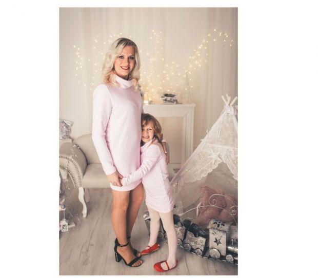 różowa sukienka dla mamy i córki